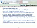 training objectives cont d1
