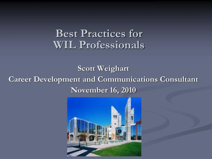 best practices for wil professionals n.