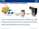 example 1 cas healthcare solution