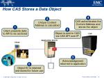 how cas stores a data object