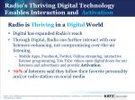 radio is thriving in a digital world