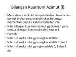 bilangan kuantum azimut l