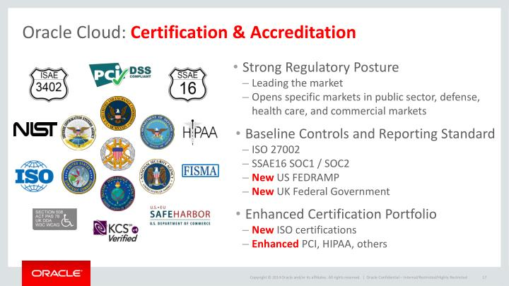 cloud oracle certification accreditation ppt powerpoint presentation care