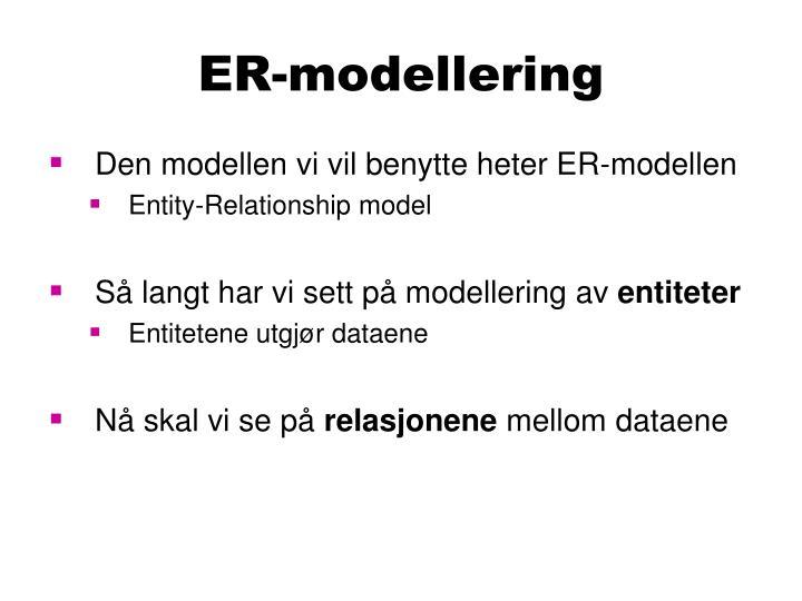 ER-modellering