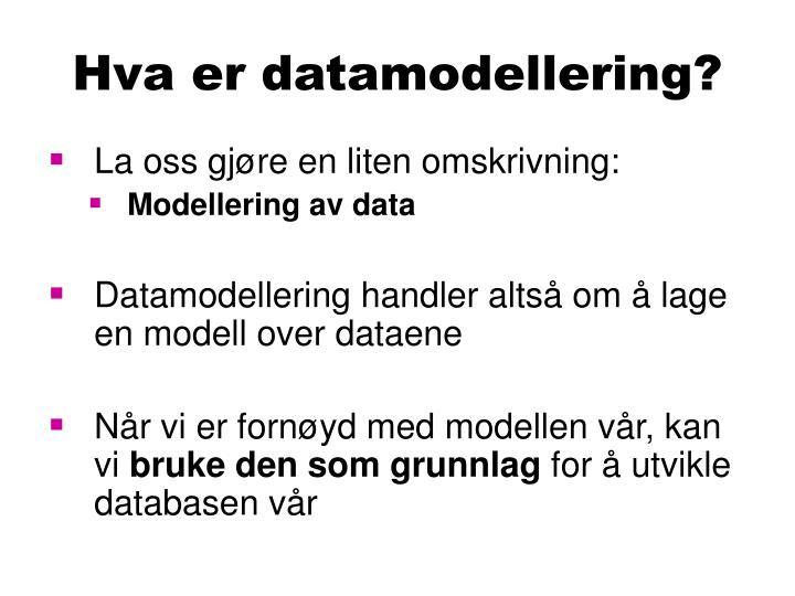 Hva er datamodellering?