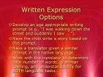written expression options