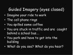 guided imagery eyes closed