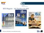 bix magazin das ergebnis des bix