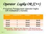 operator logika or c