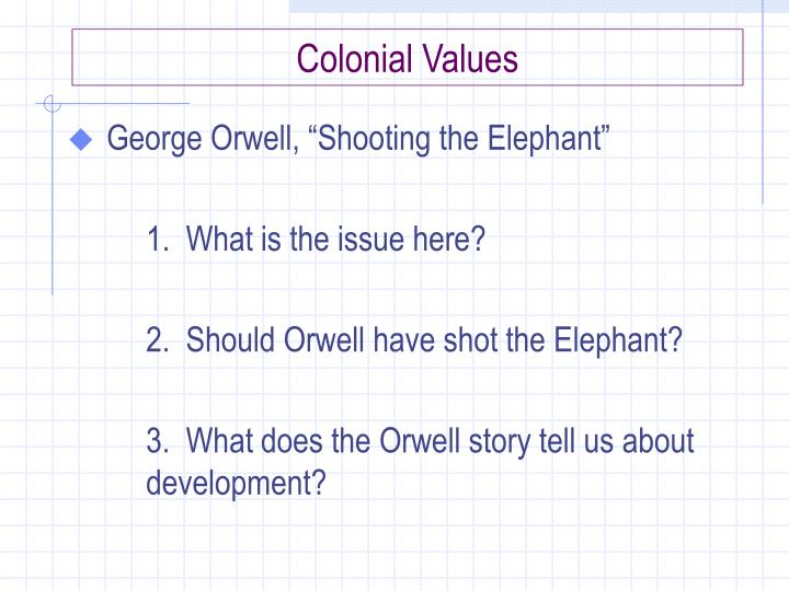 Colonial Values