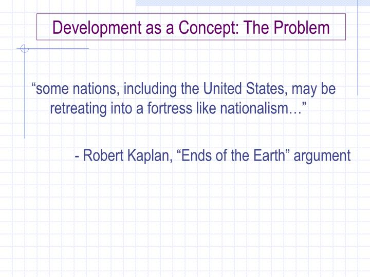 development as a concept the problem n.