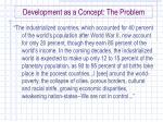 development as a concept the problem3