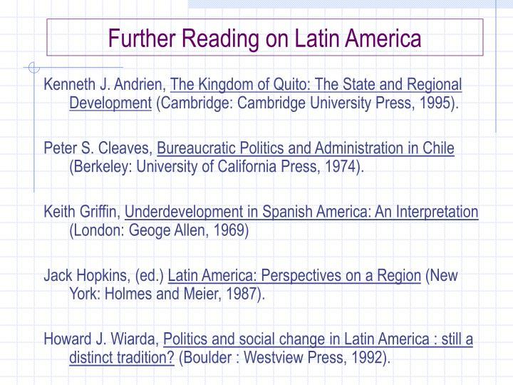 Further Reading on Latin America