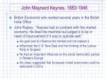 john maynard keynes 1883 1946