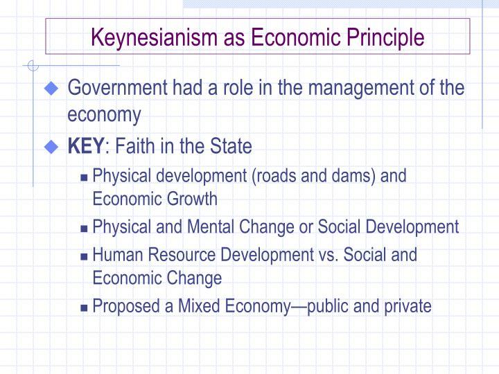 Keynesianism as Economic Principle