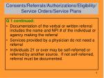 consents referrals authorizations eligibility service orders service plans1