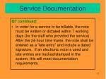 service documentation2
