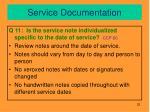 service documentation7