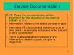service documentation9