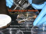 microbiological methods