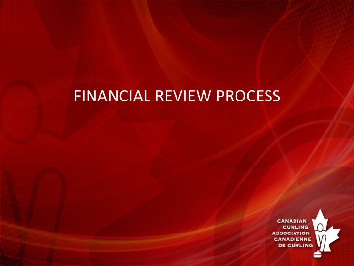 financial review process n.