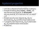 updated properties