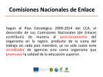 comisiones nacionales de enlace