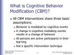 what is cognitive behavior modification cbm