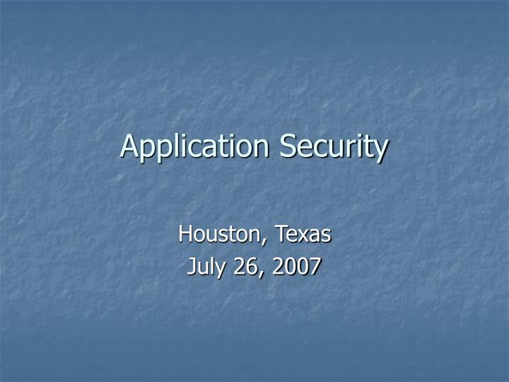 application security n.