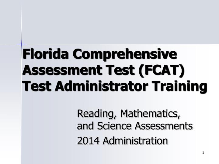 florida comprehensive assessment test fcat test administrator training n.