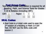 test group code