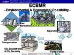ecbmr environmental economical possibility