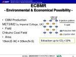 ecbmr environmental economical possibility1