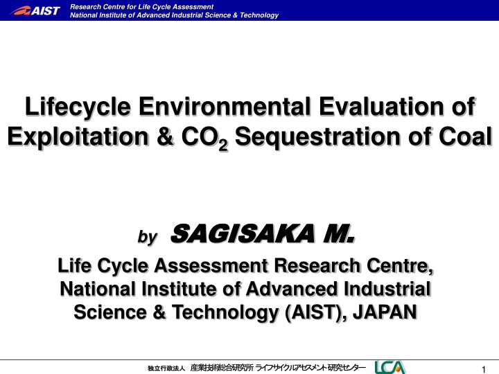 lifecycle environmental evaluation of exploitation co 2 sequestration of coal n.