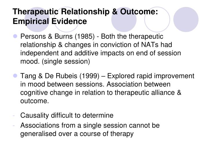 therapeutic relationship Psychodynamic psychotherapy is effective for a variety of mental health symptoms this form of psychotherapy uses patient self reflection and self examination, as well as the therapeutic relationship between the patient and psychiatrist, to explore maladaptive coping strategies and relationship patterns of the patient.