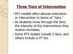 three tiers of intervention