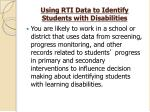 using rti data to identify students with disabilities