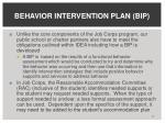 behavior intervention plan bip