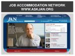 job accommodation network www askjan org