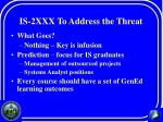 is 2xxx to address the threat