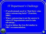 it department s challenge