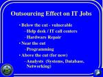 outsourcing effect on it jobs