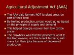agricultural adjustment act aaa