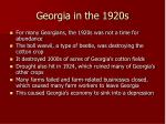 georgia in the 1920s