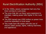 rural electrification authority rea