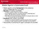 mobile agents in automated audit