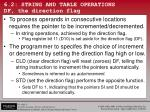 6 2 string and table operations df the direction flag