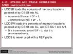 6 2 string and table operations lods instructions
