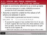 6 2 string and table operations xlat instruction and look up tables