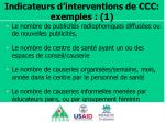 indicateurs d interventions de ccc exemples 1